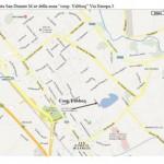 indicazione su piantina stradale