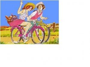 2 giovani in bici